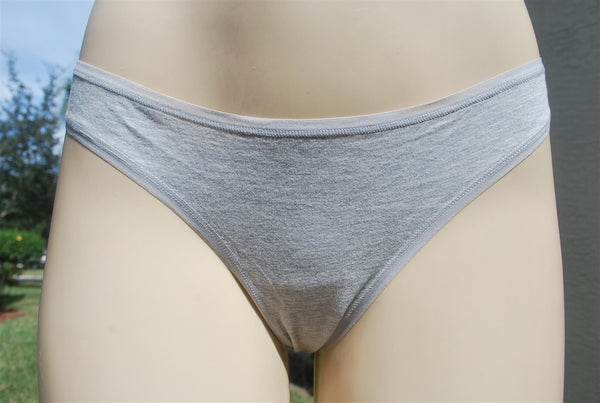 Simple Soft and Stretchy Light Gray Cotton Thong