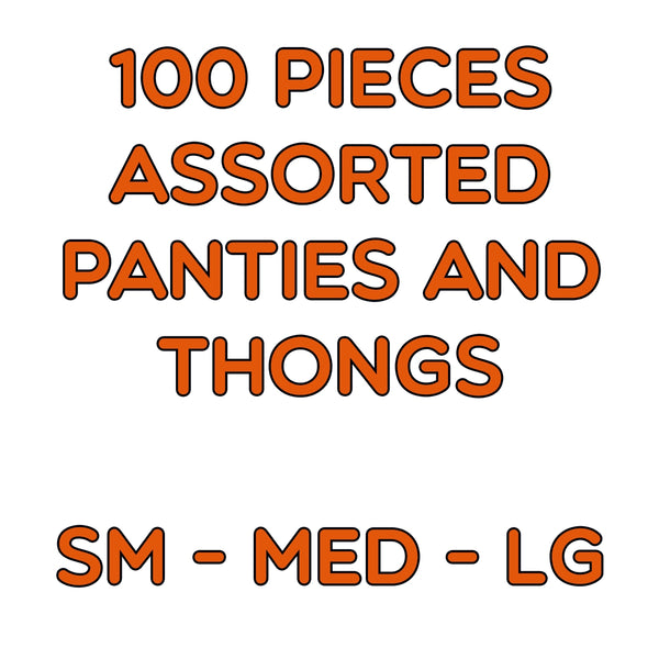 100  Assorted Panties and Thongs