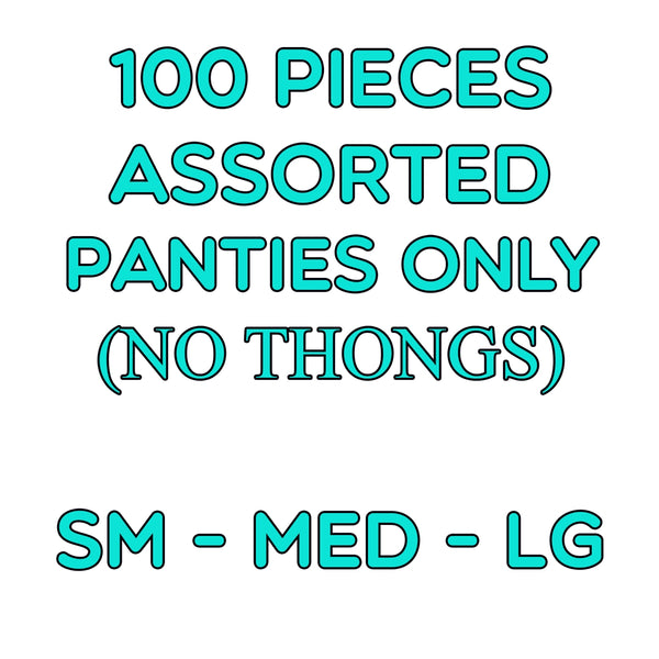100 Assorted Panties