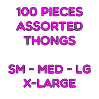 100 Assorted Thongs
