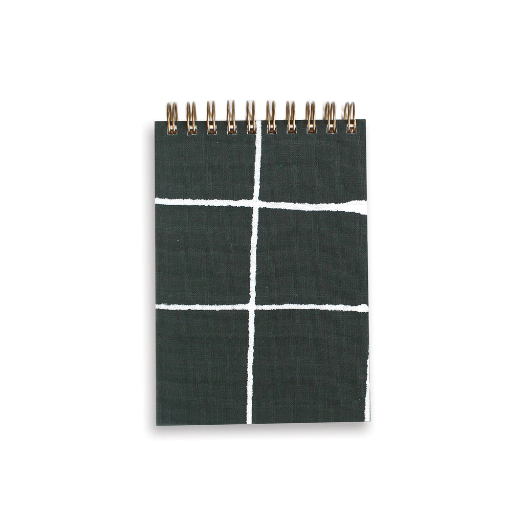 Dark Green Grid Mini Book by Moglea