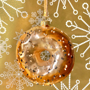 Everything Bagel Holiday Ornament