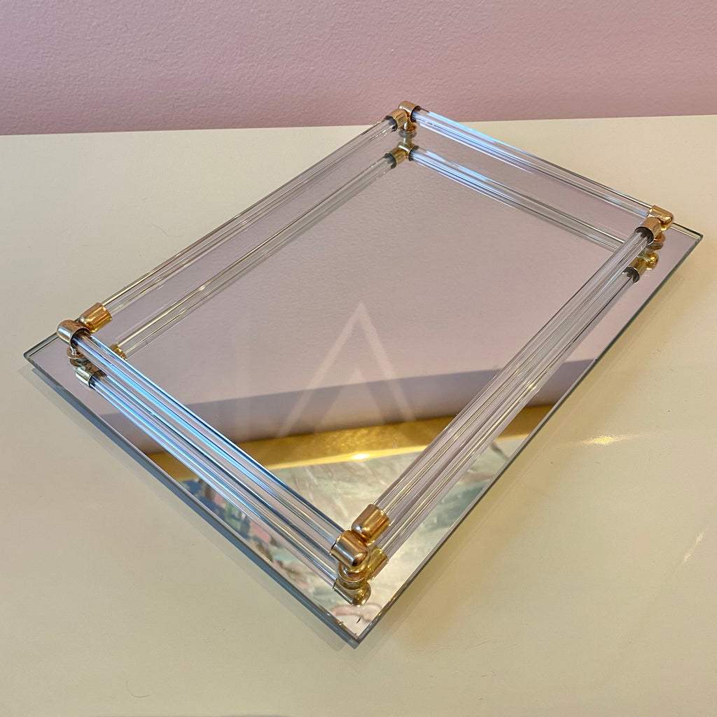 Vintage Mirrored Vanity Tray