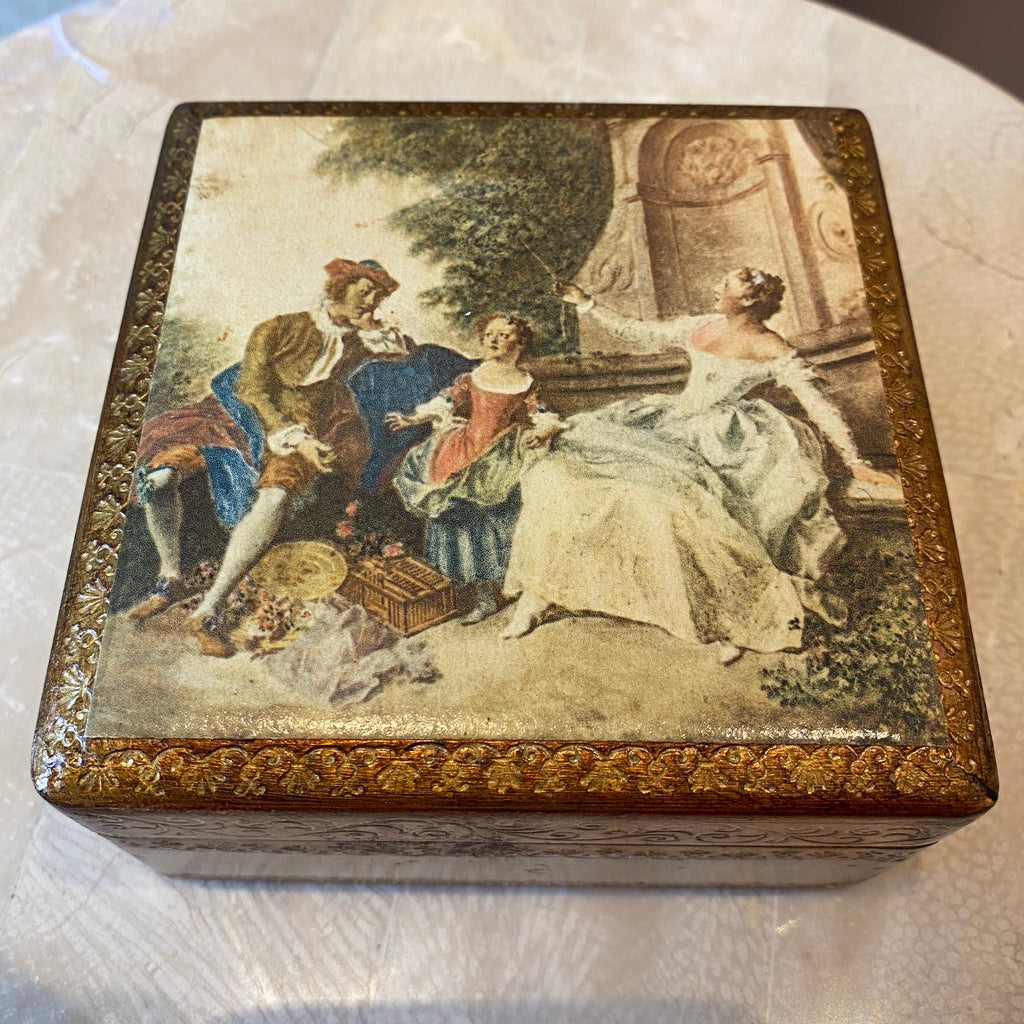 Italian Gold Leaf Trinket Box