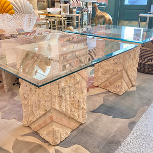 Vintage Tessellated Stone Side Table (1pc)