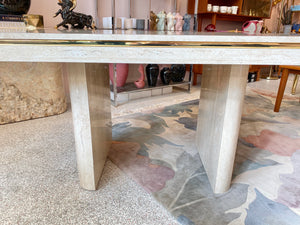 Vintage Faux Travertine Dining Table
