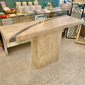 Maitland Smith Style Tessellated Console Table