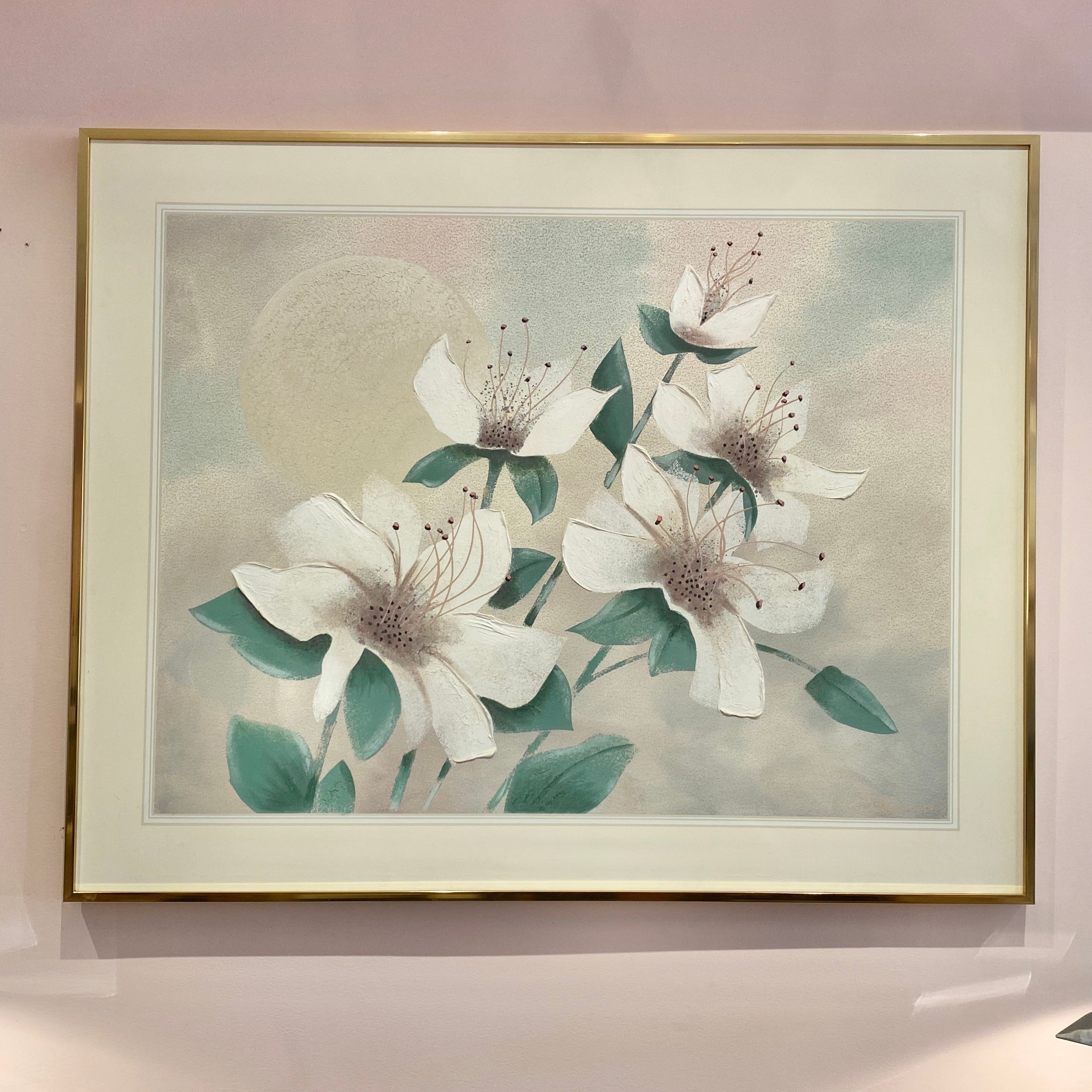 Vintage Large Floral Giclee by Franco