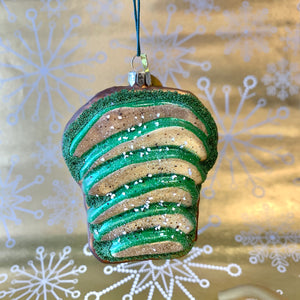 Avocado Toast Holiday Ornament