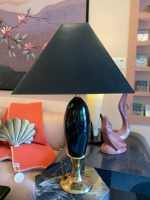 Vintage Art Deco Style Brass and Metal Lamp