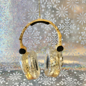 Headphones Holiday Ornament
