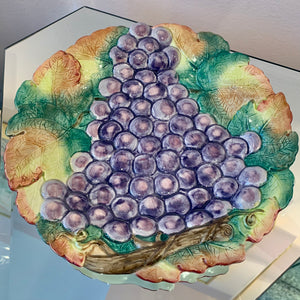 Vintage Grape Plate by Fitz and Floyd
