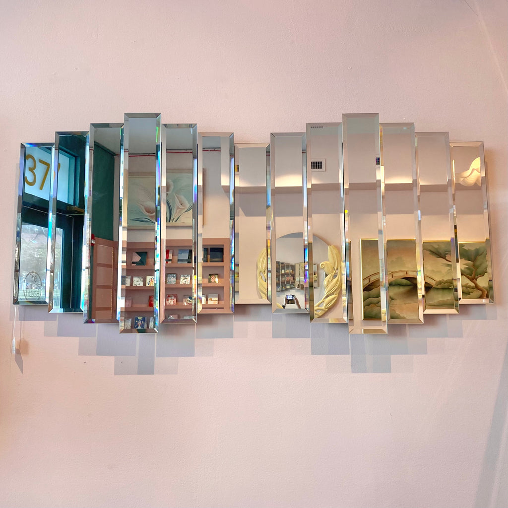 Vintage Large Multi Panel Mirror