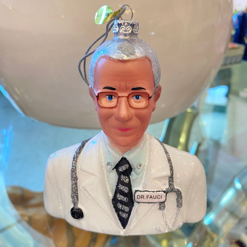 Dr Fauci Holiday Ornament