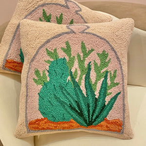 Succulent Terrarium Hook Pillow