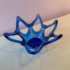 Vintage Cobalt Blue Glass Bowl