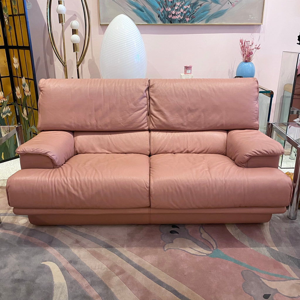 1980's Italian Leather Sofa by Salotti