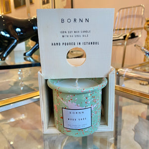 Bornn Enamelware Candle in Wood Sage