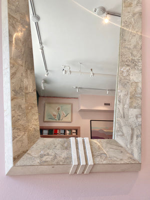 Tessellated Marble Mirror in the Style of Maitland Smith