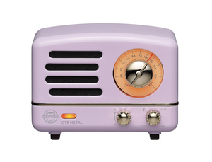 Muzen Portable Bluetooth Radio Speaker in Purple Metal