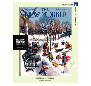 Sledding In The Park Puzzle 500pc
