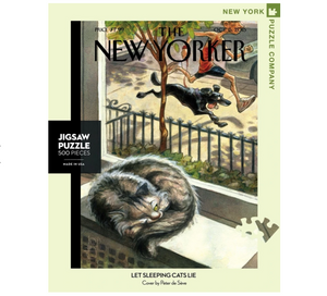 Let Sleeping Cats Lie Puzzle - The New Yorker 500pc