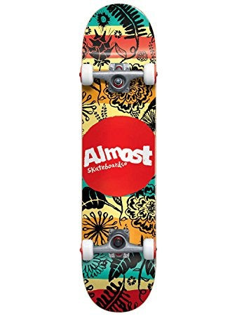 Almost Primal Print  7.0 First Push Complete Skateboard