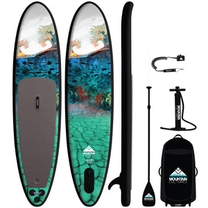 "2021 MC/PARR Inflatable 11.0""  Paddle Board Package - BLACK RAIL"