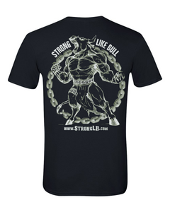 SLB Original Logo Double-Sided Short-Sleeve Unisex Black Tee