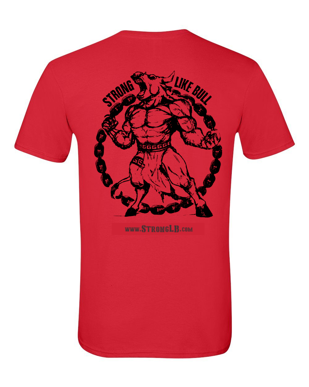 SLB Original Logo Double-Sided Short-Sleeve Unisex Red Tee