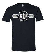 Load image into Gallery viewer, SLB Original Logo Double-Sided Short-Sleeve Unisex Black Tee