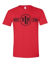 Load image into Gallery viewer, SLB Original Logo Double-Sided Short-Sleeve Unisex Red Tee