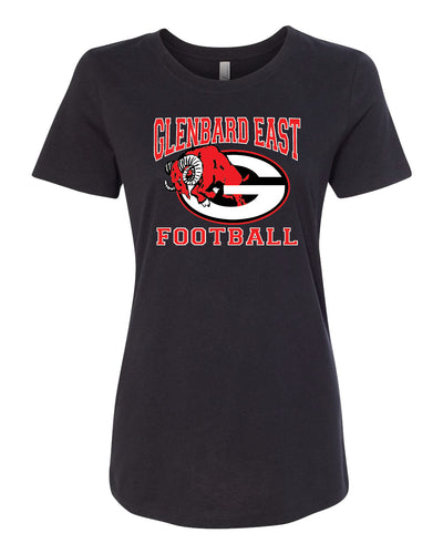 Ladies Short Sleeve Football T-Shirt