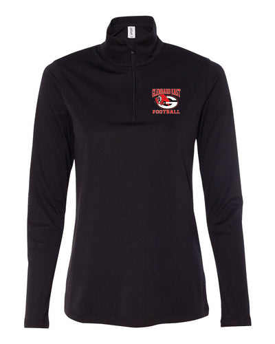 Ladies Football Quarter Zip Pull Over