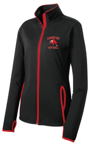 Ladies Softball Stretch Full Zip Jacket