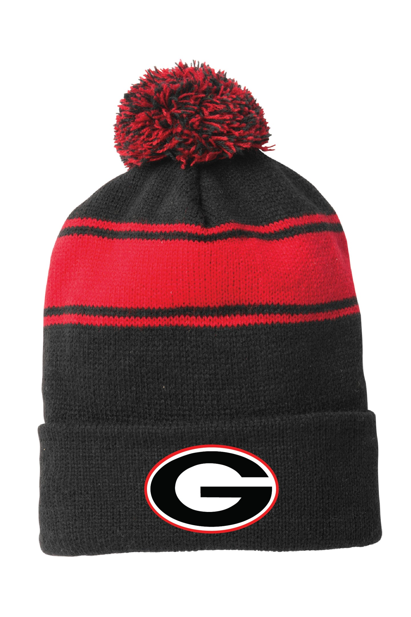 Glenbard East Athletics Pom Beanie