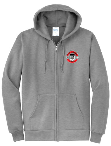 Girls Soccer Zip Up Hoodie