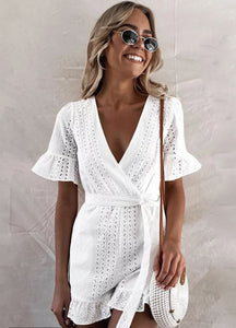 Lilah Broderie Anglaise Playsuit