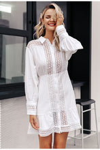 Load image into Gallery viewer, White shirt dress
