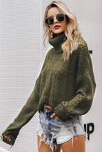 Load image into Gallery viewer, Ella Olive Over-Size Knitted Rollneck