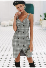Load image into Gallery viewer, Sezanne Plaid Pinafore Dress