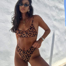 Load image into Gallery viewer, Ria Leopard Print Bikini