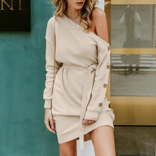 Load image into Gallery viewer, Mimi Buttoned Detail Jumper Dress