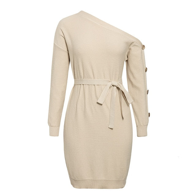 Mimi Buttoned Detail Jumper Dress