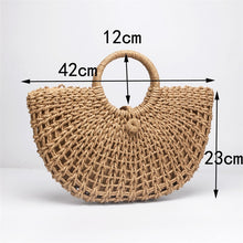 Load image into Gallery viewer, Woven raffia tote bag