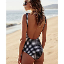 Load image into Gallery viewer, Plaid printed swimsuit