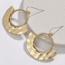 Load image into Gallery viewer, Gold statement hoop earrings