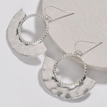 Load image into Gallery viewer, Silver statement hoop earrings