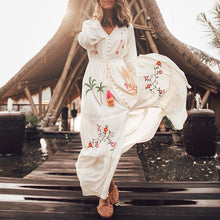 Load image into Gallery viewer, Printed beach maxi dress
