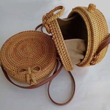Load image into Gallery viewer, Round Boho Bag - Peachy Cola